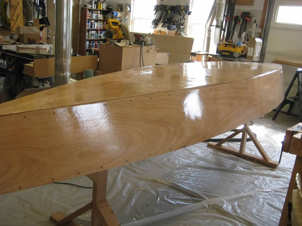 Building Kayaks For The Grandkids #3: Kayak Build: Painting The Bottoms    By English @ LumberJocks.com ~ Woodworking Community