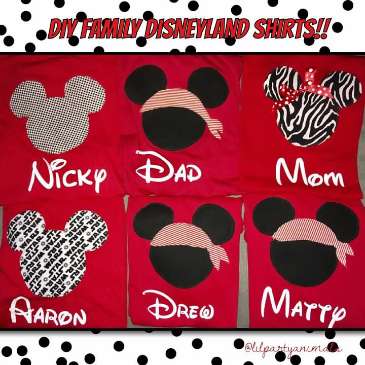 6dae1b5eae10 Lil Party Animals  DIY matching family shirts for Disneyland!!!