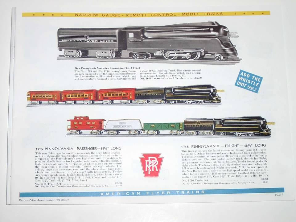 CIRCUS 577 WHISTLING BILLBOARD INSERT for American Flyer O Gauge Trains