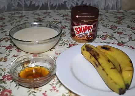Bahan-bahan banana ice skippy