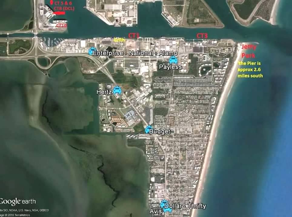 Port Canaveral Rental Car: One Way Car Rental From MCO To Port Canaveral And Back
