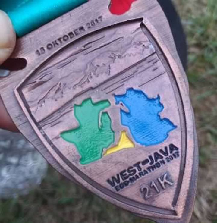 Eco West Java Marathon 2017 Medal